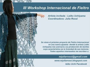 Leiko Uchiyama Felt Workshop Buenos Aires
